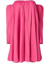 CALVIN KLEIN 205W39NYC Bardot Ruffled Dress - Pink