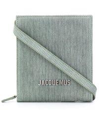 Jacquemus Logo-lettering Striped Shoulder Bag - Green