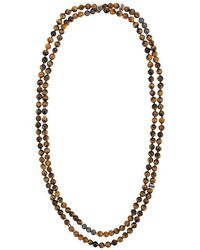 Tateossian - Mesh Beaded Necklace - Lyst