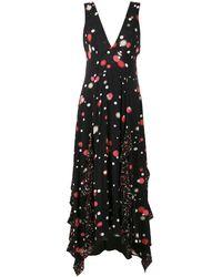 EVA Polka Dot Print Midi Dress - Black