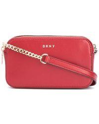 DKNY Umhängetasche mit Logo-Schild - Rot