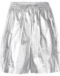 Juun.J Foil Drawstring Shorts - Metallic