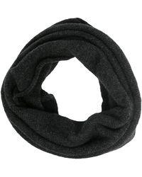 Isabel Benenato ファインニット スカーフ - ブラック