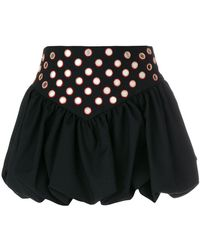 Saint Laurent - Embroidered Ruffle Basque Mini Skirt - Lyst