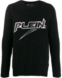 Philipp Plein Logo Knitted Sweater - Black