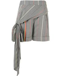 Hellessy Shorts Met Pied-de-poule Print - Zwart