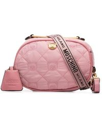 Moschino - Baby Pink Mini Teddy Quilted Belt Bag - Lyst