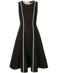 Paule Ka - コントラストパイピング ドレス - Lyst