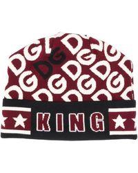 Dolce & Gabbana Шапка Бини King - Белый