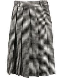 AMI プリーツ スカート - ブラック
