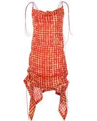 CHARLOTTE KNOWLES チェック ドレス - レッド