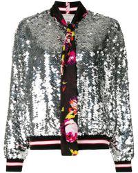 MSGM Куртка-бомбер С Пайетками - Многоцветный