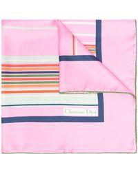 Dior Платок Pre-owned С Геометричным Принтом - Розовый