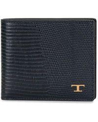 Tod's Складной Бумажник С Логотипом - Синий