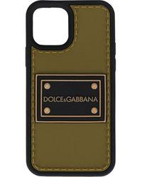Dolce & Gabbana Logo-patch Iphone 12 Pro Case - Green