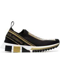 Dolce & Gabbana Слипоны С Логотипом - Черный