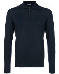 Drumohr ニットポロシャツ - ブルー
