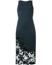Haney Платье Средней Длины С Кружевными Вставками 'natasha' - Черный
