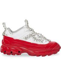 Burberry Sneakers Met Kristal - Wit