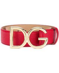 Dolce & Gabbana Ceinture DG - Rouge