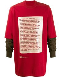 Rick Owens Drkshdw - Larry Hustler Sweatshirt - Lyst