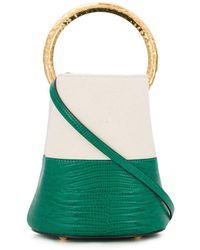 Marni Pannier Colour-block Bucket Bag - Green
