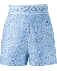 Martha Medeiros - High Waist 'marescot' Lace Shorts - Lyst