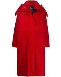 3 MONCLER GRENOBLE Tervela Oversized Padded Coat - Red