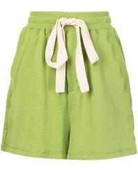 Lee Mathews Shorts con cordones - Verde