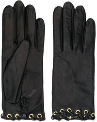 Manokhi Leather Gloves - Black