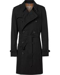 Burberry Пальто The Kensington Heritage Длины Миди - Черный