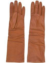 P.A.R.O.S.H. Three-quarter Length Gloves - Brown