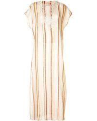 Tory Burch ストライプ チュニックドレス - マルチカラー