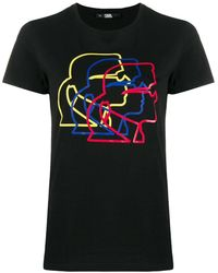 Karl Lagerfeld T-shirt Karl Profile - Nero