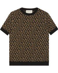 Gucci Трикотажный Джемпер С Логотипом GG - Коричневый