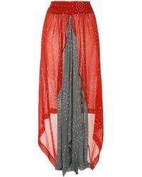 Kitx - Spliced Midi Skirt - Lyst