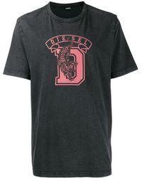 DIESEL T-shirt Met Print - Grijs