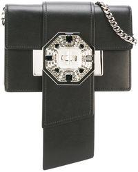 0e8b38a39850 Prada - - Crystal Embellished Shoulder Bag - Women - Calf Leather  metal glass