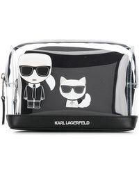 Karl Lagerfeld - K/ikonik Transparent Pouch - Lyst