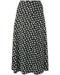 ALEXACHUNG - Floral Midi Skirt - Lyst