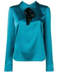 Styland - Bow-detail Satin Blouse - Lyst