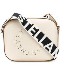 Stella McCartney Bandolera Stella con logo - Blanco