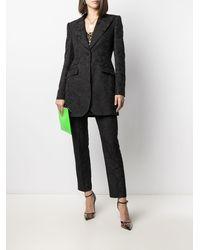 Dolce & Gabbana フローラル ストレートパンツ - ブラック
