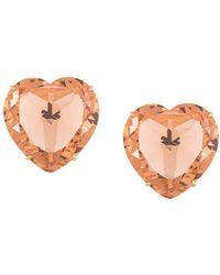 Tory Burch Heart Clip-on Earrings - Orange