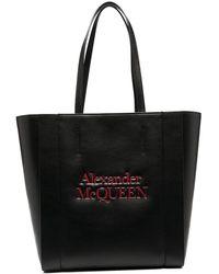 Alexander McQueen - Сумка-тоут С Тисненым Логотипом - Lyst
