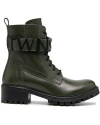 Twin Set Ботинки На Шнуровке С Логотипом - Зеленый