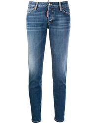 DSquared² Low-rise Skinny Jeans - Blue