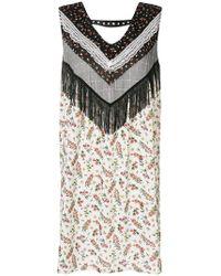 Gaëlle Bonheur - Floral Print Fringed Dresss - Lyst