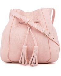 Mulberry Millie Tassel Detail Bucket Bag - Pink