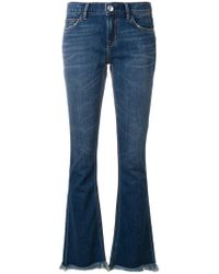 Current/Elliott - Frayed Bootcut Jeans - Lyst